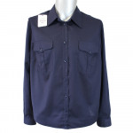 Russian military blue long-sleeved shirt for Naval Fleet Officers