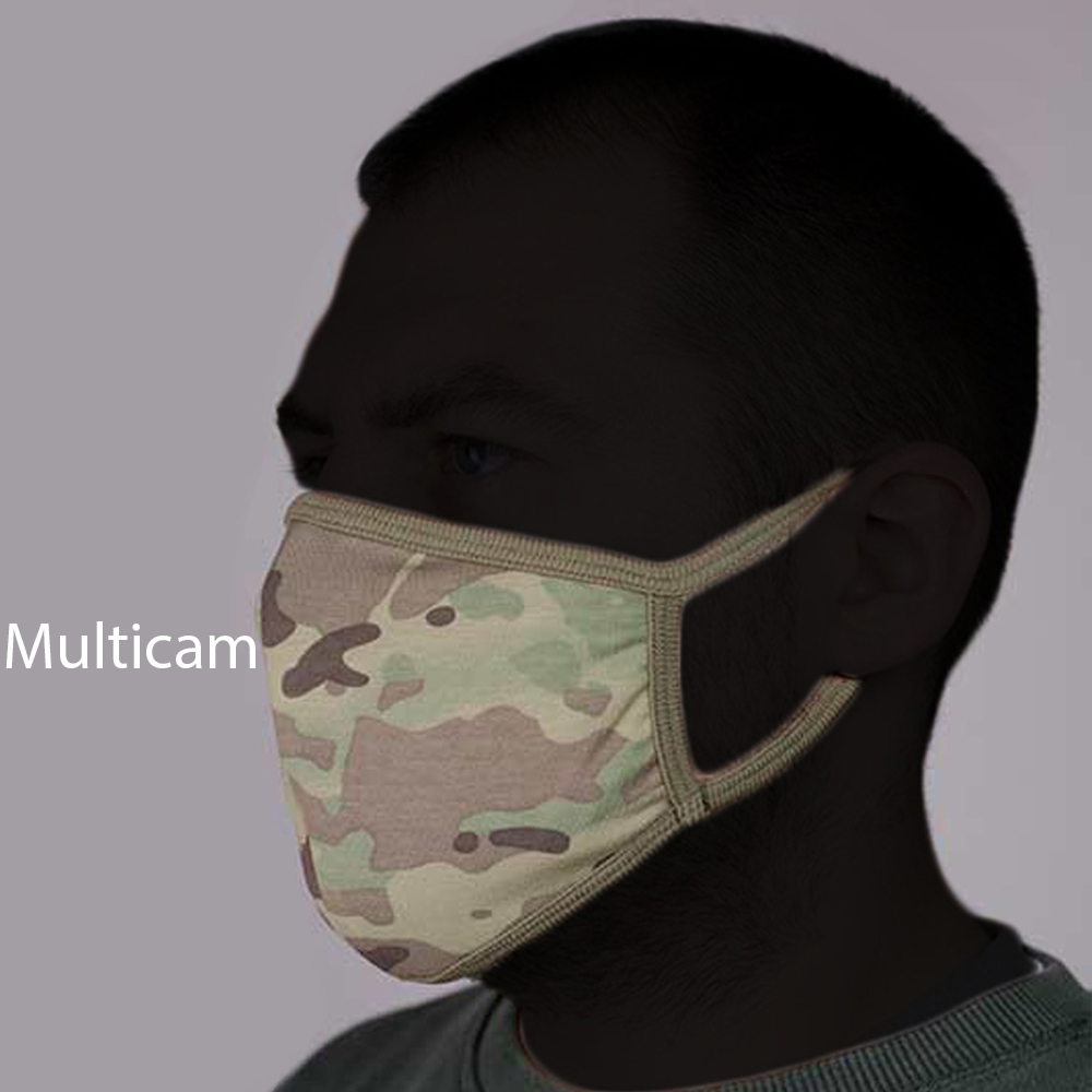 Set of 3 Face Protection Masks Bars Factory Knitwear Camouflage Russian Army