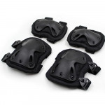 Tactical Russian Equipment military black protection knee / elbow pads for Airsoft and Combat gear modern pads