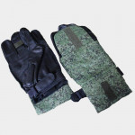 Russian army tactical Camouflage / Black leather Special Forces Ballistic Lightweight Gloves for airsoft and training