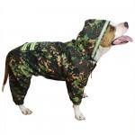 Demi-season light-reflecting dog uniform with hood Russian tactical pet clothing Custom frog camo suit outdoor Military dog hoodie