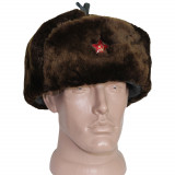 Russian Winter Warm Officers Military Army hat warm earflaps soldiers ushanka with fur