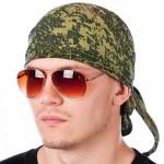 Russian Headscarf military bandana Black/Digital Camo/Grey Flora/Green Flora