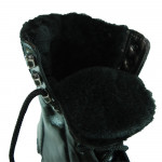 Special Forces Black Boots with fur Russian Army