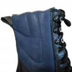 Russian Chrome Black with Blue Outdoor Boots M130