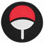 Naruto Sasuke Anime Logo Sleeve Embroidered Sew-on/Iron-on/Velcro Patch
