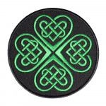 Celtic Green Knot Embroidered Sew-on / Iron-on / Velcro Patch