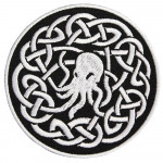White Cthulhu Halloween Embroidered Sew-on / Iron-on / Velcro