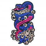 Tattoo Japanese Snake Embroidery Sew-on / Iron-on / Velcro Patch