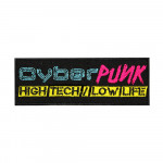 Modern Computer Game Patch Cyberpunk High Tech Low Life Embroidered Sew-on/ Iron-on / Velcro Patch