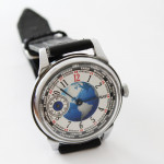 """Russian Military Vintage Wristwatch""""Earth"""" non-transparent USSR gift"""