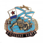 Russian red banner northern fleet spetsnaz ksf badge