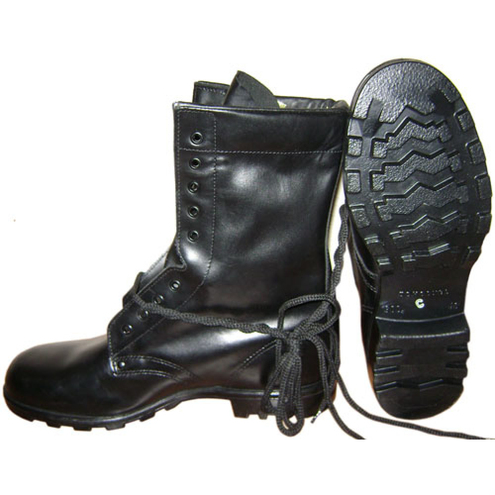 russian marines tactical black leather airsoft boots