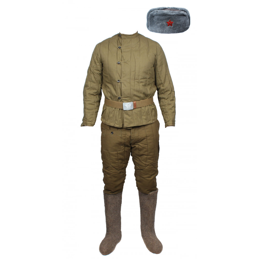 Soviet wwii / russian army military uniform - telogreika, fufaika, pants, vatniki