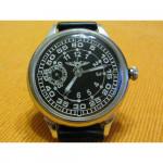 Vintage black Russian wrist watch SHTURMANSKIE Molniya