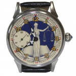"Russian wrist watch ""Femida the goddess of justice"" Molniya"