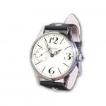 Russian wristwatch 18 Jewels with stone on wind knob Molniya