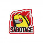 Amoung us Sabotage Game Embroidered Sleeve Sew-on / Iron-on  / Velcro Patch