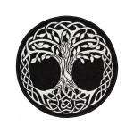 Scandinavian Tree of Life Mythology Embroidered Sew-on / Iron-on / Velcro Patch