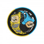 Game FIghter MK 11 SubZero / Scorpion Embroidered Sew-on / Iron-on / Velcro Patch