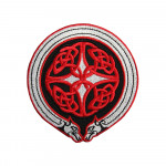 Red Mythical Celtic Embroidered Ornament Sew-on / Iron-on / Velcro Patch