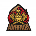 Warrior Spartan Logo Embroidered Sew-on / Iron-on / Velcro Patch