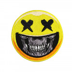 Skull with Smile Halloween Embroidered Sleeve Sew-on / Iron-on / Velcro Patch