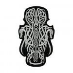 Scandinavian Gun Mjolnir Embroidered Sew-on / Iron-on / Velcro Patch