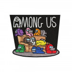Among Us Group Chill Embroidered Sew-on/ Iron-on / Velcro Patch