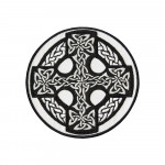 Celtic Cross With Ornament Embroidered Sew-on / Iron-on / Velcro Patch