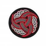 Celtic Ornament Embroidered Sleeve Sew-on / Iron-on / Velcro Patch