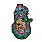 Snake With Skull Orochimaru Embroidery Sew-on / Iron-on / Velcro Patch