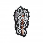 Vikings Axe Embroidered Sew-on / Iron-on / Velcro Patch