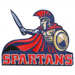 Spartan warrior embroidered Sew-on / Iron-on / Velcro patch SPARTAN