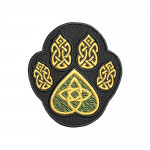 Celtic ornament Paw trail wolf  embroidered patch