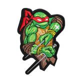 Ninja Turtles Raphael TMTN cartoon Embroidery Sew-on / Iron-on / Velcro Patch