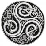 White Celtic Mythology Ornament Embroidered Sew-on / Iron-on / Velcro Patch