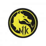 Fighter Game Mortal Kombat Logo MK Sleeve Embroidered Sew-on/Iron-on/Velcro Patch