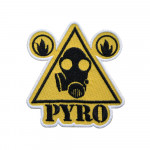 TF 2 Champion Pyro Logo Original Team Fortress 2 Embroidered Sew-on/iron-on/Velcro Patch
