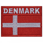 Denmark Country Flag Embroidered Original Sew-on Handmade Patch #3