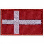 Denmark Country Flag Embroidered Sew-on Original Handmade Patch #1