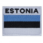 Estonia Flag Embroidered Handmade Country Sew-on Sleeve Patch #3