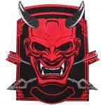 Oni Demon Samurai Embroidered Custom Sew-on / Iron-on / Velcro Patch