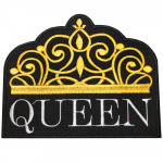 Logo Queen Embroidery Crown Sew-on / Iron-on / Velcro Patch