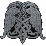 Celtic Ornament Wings Embroidery Custom Sew-on / Iron-on / Velcro Patch