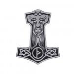Mjolnir Thor's Hammer Emrbroidered Sew-on Handmade Patch #2