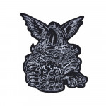 Viking Norse Beer Helmet Wings Embroidery Sew-on Handmade Patch #1