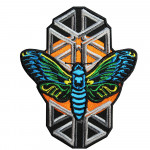 Cicada Wings Embroidery Sleeve Sew-on / Iron-on / Velcro Patch