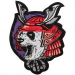 Samurai Panda Embroidery Sleeve Sew-on / Iron-on / Velcro Patch