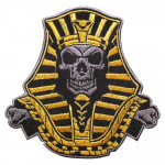Egypt Skull Pharaoh Embroidery Sleeve Sew-on / Iron-on / Velcro Patch